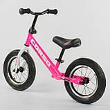 Детский беговел (велобег) Corso 63908 розовый, фото 3
