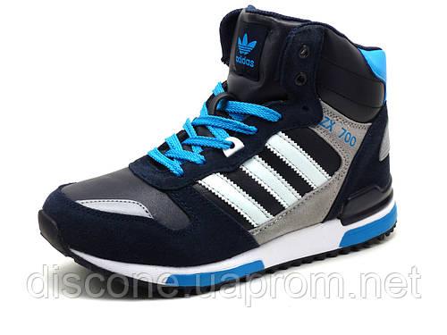 Зимние кроссовки реплика Adidas ZX700 на меху