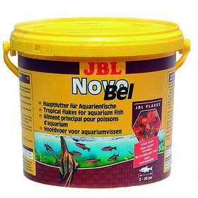 Основний корм у формі пластівців JBL NovoBel для акваріумних риб, 10.5 л