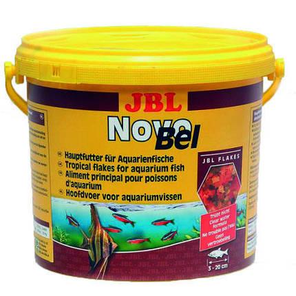 Основной корм в форме хлопьев JBL NovoBel для аквариумных рыб, 10.5 л, фото 2