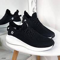 Чоловічі кросівки текстильні чорні, фото 1