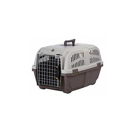Переноска MPS Skudo 1 для кошек и собак мелких пород, серая, 48×31.5×31 см, фото 2
