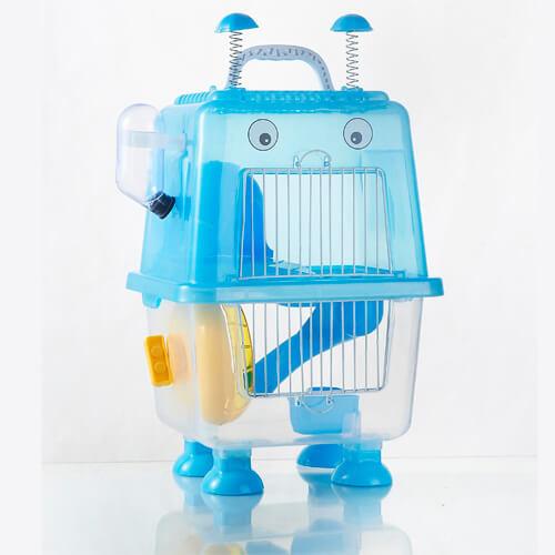Клетка для хомяка AnimAll Robotic, 20.7x19x36 см, голубая