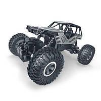 Автомобиль OFF-ROAD CRAWLER на р/у ROCK (серебристый, метал. корпус, 1:18)