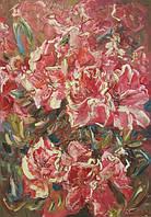 Абстрактная картина цветов. Картина для декора кухни. Картина диптих.