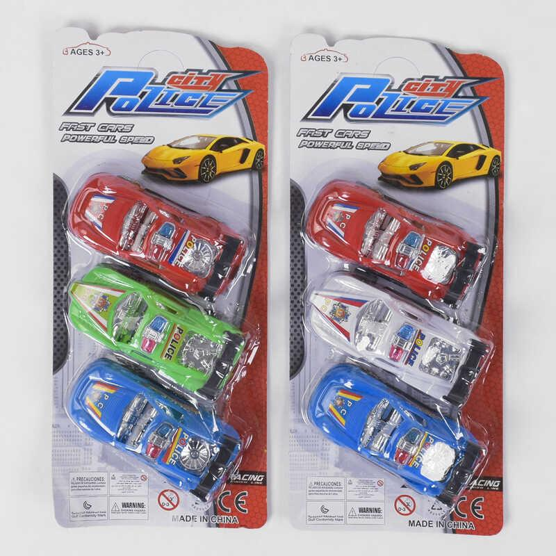 Набор машинок 299 (288/2) 2 цвета, 3 штуки на листе