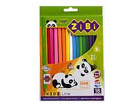 Олівці кольорові 18 кольорів KIDS LINE 2415 ZiBi