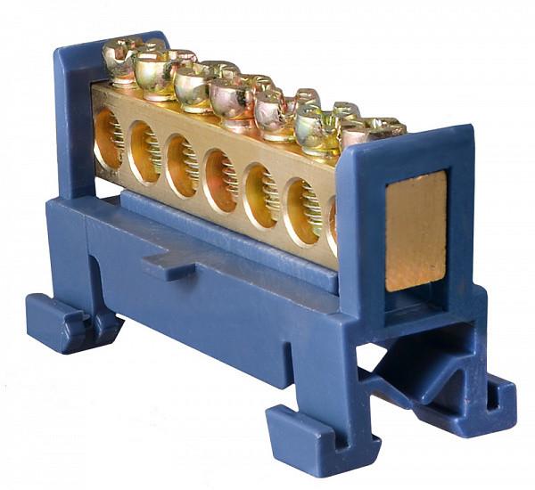Шина нульова з ізолятором на Din-рейку ВС-507 6х9 7отв.