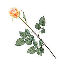 Искусственный цветок желтая роза (силикон).