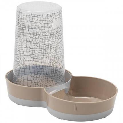 Автокормушка-поилка Moderna Tasty WildLife 2в1 для кошек и собак, пластик, коричневая, 1.5 л, фото 2