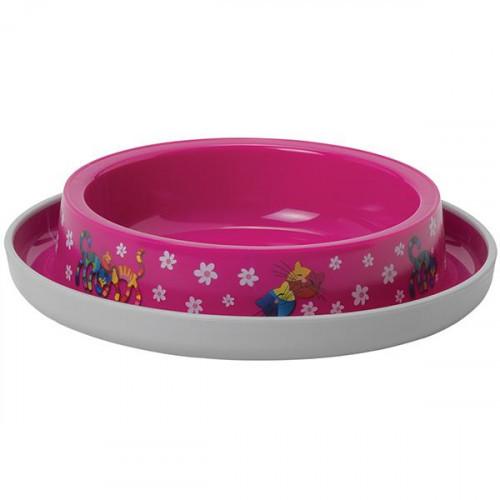 Миска Moderna Trendy Dinner Friends Forever для кошек, ярко-розовая, 210 мл, d-15 см