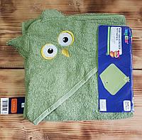 """Махровое полотенце-уголок для малыша """"Совушка"""""""
