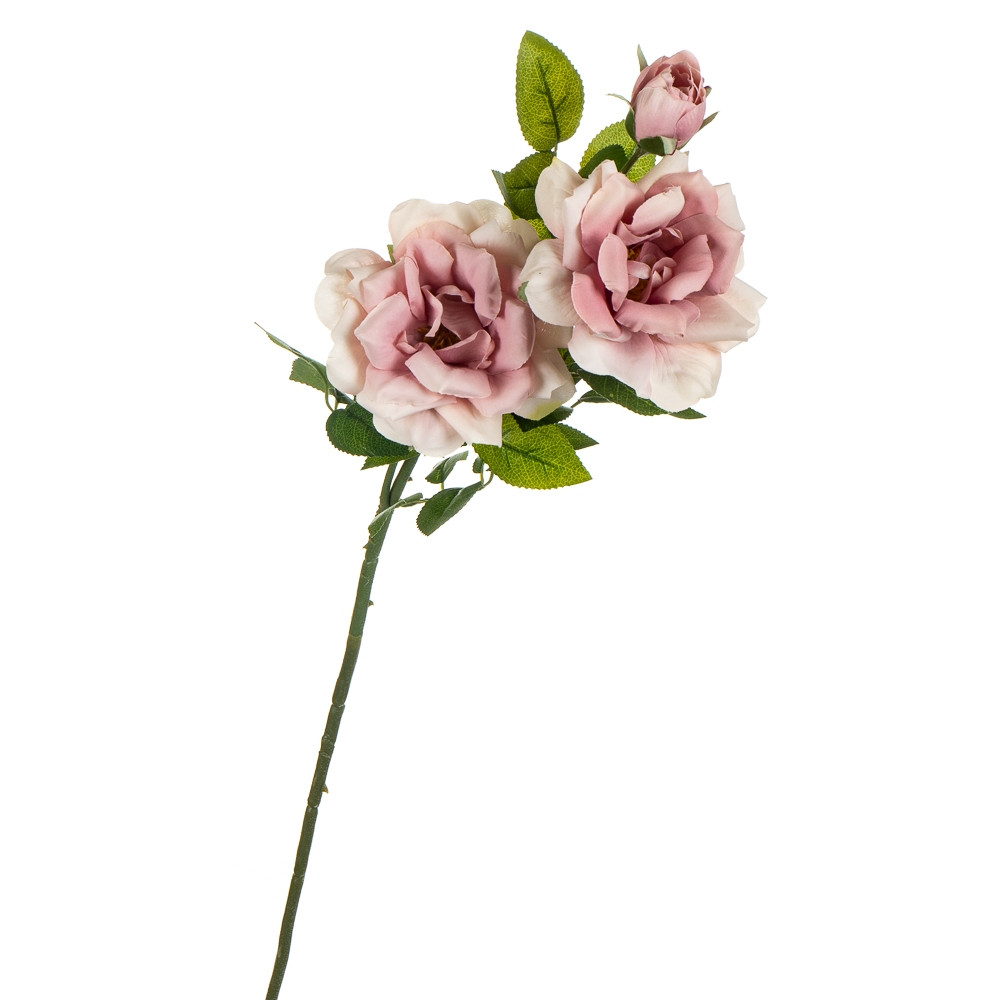 """Цветок искусственный """"Роза чайная"""" нежно-розовая"""