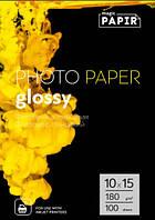 Глянцевая фотобумага 10x15, 180 г./м. PAPIR  (100 листов)