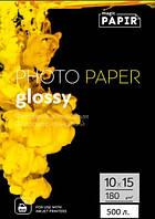 Глянцевая фотобумага 10x15, 180 г./м. PAPIR  (500 листов)
