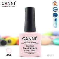 Гель-лак Canni 96  бледный пастельно-розовый (камуфляж под френч) 7.3ml