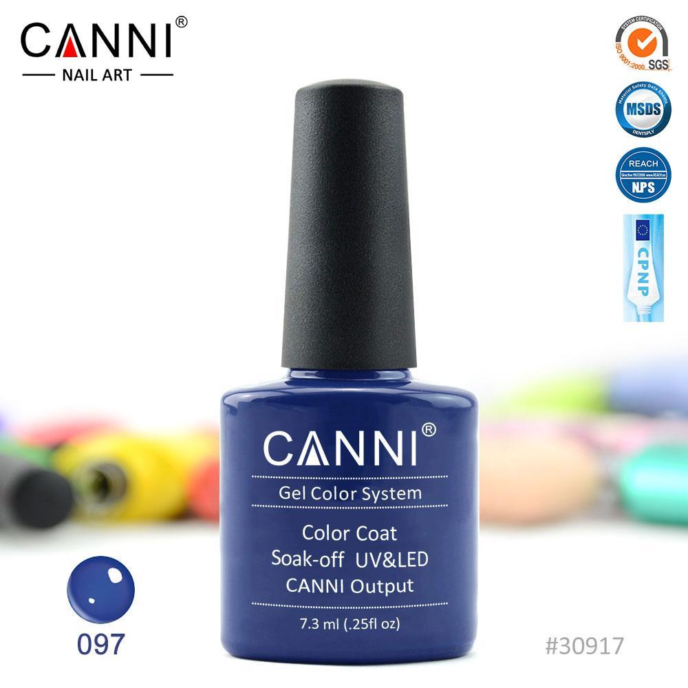 Гель-лак Canni 97 темно-синий 7.3ml