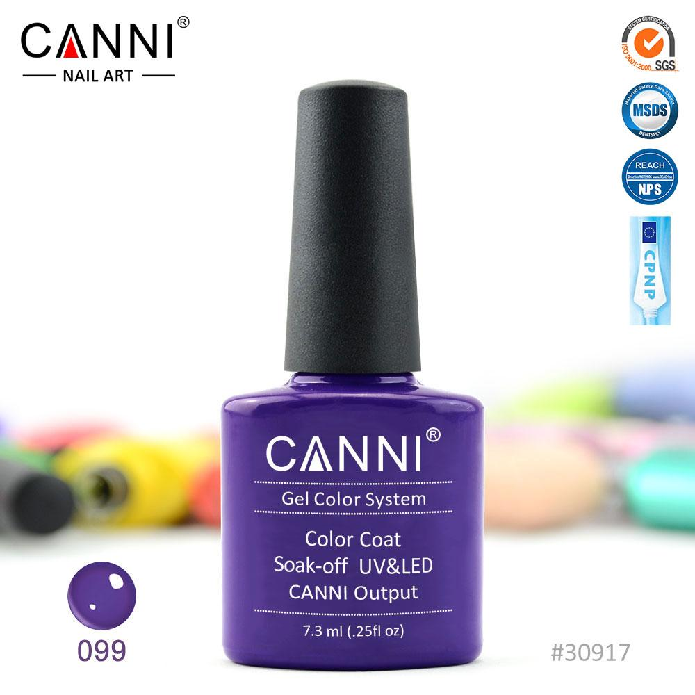 Гель-лак Canni 99 темно-фиолетовый 7.3ml