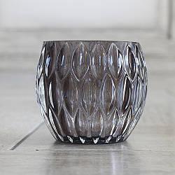 Подсвечник стеклянный Элиза серый h 9 см d 10 см