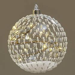 Новогодний шар на елку стеклянный Led ночник  d 12 см