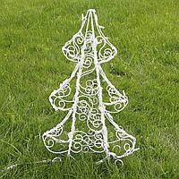 Ёлка новогодняя для сада (полуобъемная) 90 см, гирлянда LED 100 лампочек