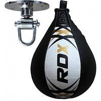 Пневмогруша боксерская RDX Leather White Pro, фото 1