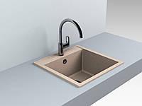 Гранитная кухонная мойка Bodrum 510 (песочная)