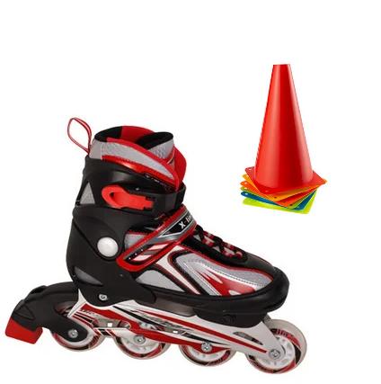 Ролики раздвижные, размер XL (41-44) роликиковые коньки красные