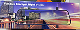 Зеркало с видеорегистратором DVR MR-10 night vision 10 дюймов FULL HD + задняя камера для парковки и записи, фото 5