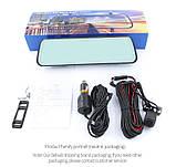Зеркало с видеорегистратором DVR MR-10 night vision 10 дюймов FULL HD + задняя камера для парковки и записи, фото 6