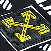 Футболка мужская черно-белая с принтом OFF-WHITE #10 Ф-12 BLK/WHT S(Р) 20-829-020, фото 10