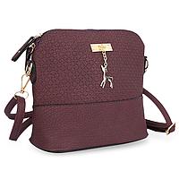 Женская маленькая сумка через плечо Бэмби Фиолетовая
