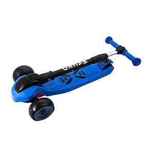 Самокат детский Трехколесный Самокат scooter smart  Macro Синий, фото 2