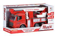 Машинка инерционная Same Toy Truck Пожарная машина с подъемным краном