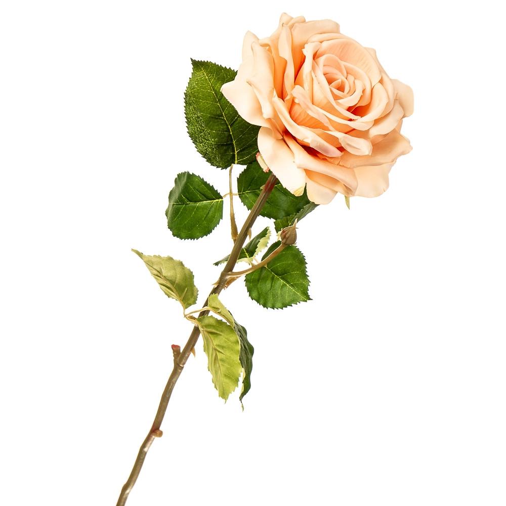 """Цветок искусственный """"Роза садовая коралловая"""""""