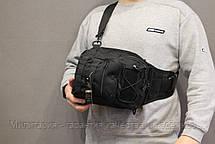 Сумка рюкзак на одно плечо однолямочный рюкзак слинг городской рюкзак  Black (098-black), фото 3