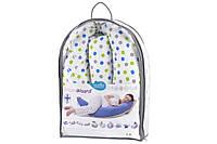 Подушка для беременных Nuvita 10 в 1 DreamWizard (белая с точками)