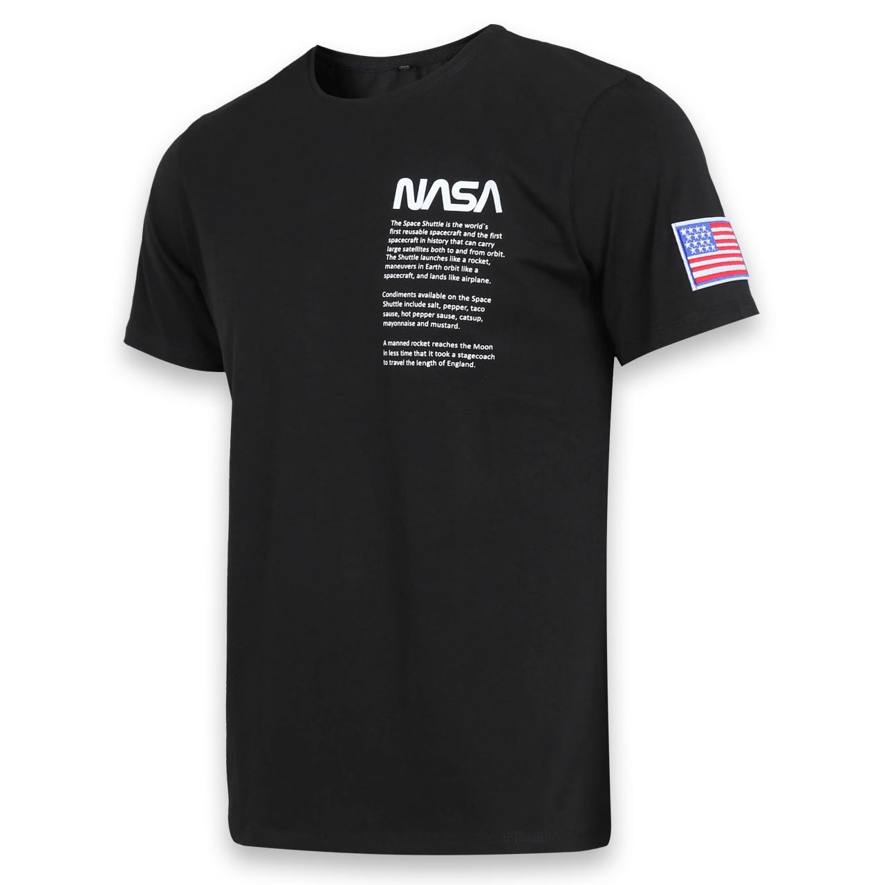 Футболка черный NASA №4 Ф-10 BLK L(Р) 20-815-020-001