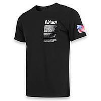 Футболка мужская черная NASA с принтом №4 Ф-10 BLK M(Р) 20-815-020-001
