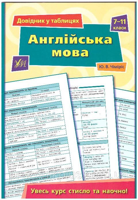 Справочник в таблицах УЛА Английский язык 7-11 класс