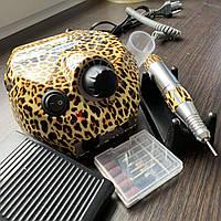 Фрезер для маникюра Nail Drill ZS-601, леопард, 65 Вт / 45 000 об.