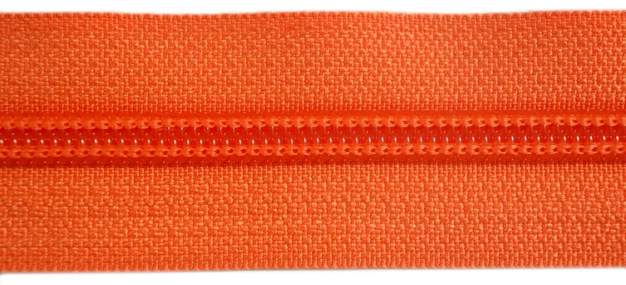 Молния лента (метражка)  №7 (10), цвет №814 оранжевый
