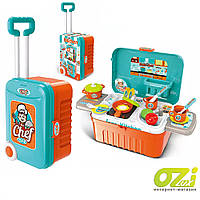 Детская интерактивная кухня в чемодане Chef 008-956А