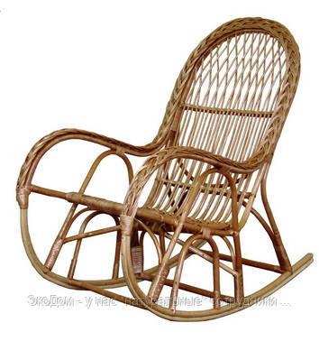 Кресло - качалка плетеное из лозы с косой