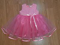 Святкова рожева дитяча сукня «Маленька принцеса», фото 1
