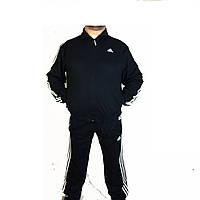 Спортивный костюм мужской большого размера,адидас,,.adidas,костюм мужской три полосы,черный.синий,Турция,56-62