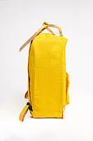 Рюкзак  Fjallraven Kanken Classic Rainbow 16л  Топ качество желтый с полосатыми ручками, фото 2