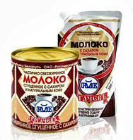 Белорусское сгущенное 7% молоко КОФЕ Рогачев 380 гр