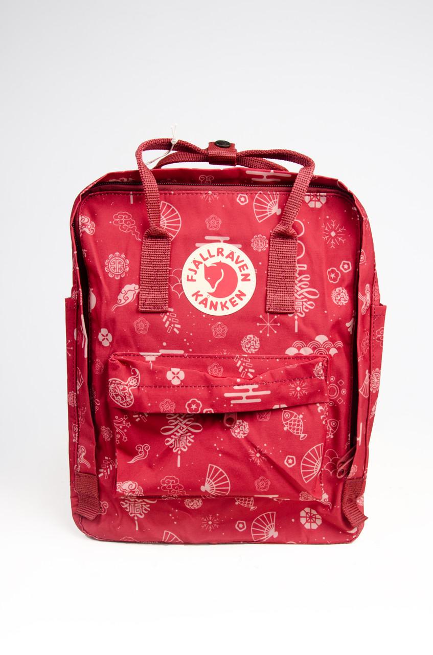 Рюкзак  Fjallraven Kanken Classic Art  16л  Люкс качество Красный