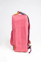 Рюкзак  Fjallraven Kanken Classic Rainbow 16л  Топ качество  красный с радужными ручками, фото 2
